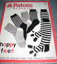 KNITTED SOCK PATTERN BOOKS - PATONS, PLYMOUTH, SKACEL & MORE