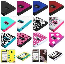 FREE GIFT + TUFF Hybrid Armor Hard Case Cover for LG Optimus L9 P769 T-Mobile