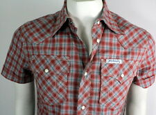 True Religion $141 Brand Jeans Mens Rocky Plaid Shirt/Top - Chili