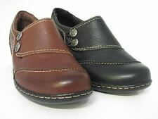 Clarks Embrace Charm Ladies Black Leather Shoes