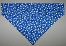 Blue Daisy Flowers Dog Bandana Scarf - Slide over Collar - Size XSmall to XLarge