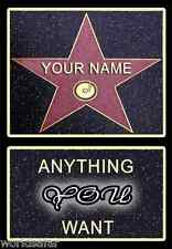 HOLLYWOOD STAR WALK OF FAME PERSONALISED VALENTINES PRESENT FOR HIM