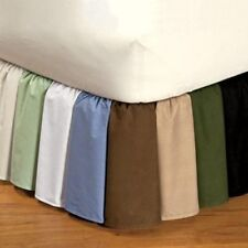 "400TC Split Corner Bed Skirt Solid 12""Drop lenght 100%Egyptian Cotton all Color"
