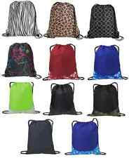 ***DURABLE DESIGNER Drawstring Backpack Cinch Sack School Bag Sport Pack 14 x 17