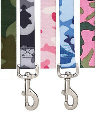 CAMO DOG LEASH 5 Colors 3 sizes! Nylon Guardian Gear Puppy Pink Camouflage Lead