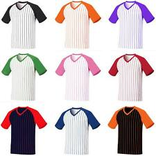 New Coolmax Baseball Stripe T-shirt Sports V Neck Raglan Dry fit Tee Jersey Wear