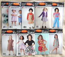 Simplicity BABY TODDLER CHILD'S PATTERNS Dress Skirt Jumper Booties Pants Vest +