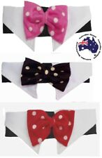 Dog Bow Tie Collar Polka Dot Red Pink Black 2XL 3XL Wedding Formal Party Necktie