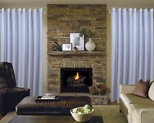 """2 DRAPES BLACK OUT WOVEN POLYESTER FABRIC FOR INSULATION 57"""" W  x  96"""" H"""