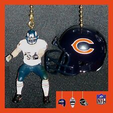 NFL CHICAGO BEARS CEILING FAN PULLS- CHOICE OF URLACHER JERSEY & FOOTBALL HELMET