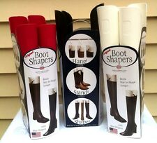 Plastic Boot Shapers and Hangers Shoe Storage Accessory SET OF 2 Black or Red