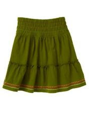 GYMBOREE WILD FOR ZEBRA GREEN MULTI STICTH RUFFLE SKIRT 3 4 5 6 7 8 9 10 12 NWT