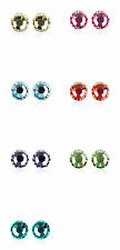 18K White Gold Plated Crystal 5mm Earrings Studs made with Swarovski Crystals