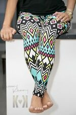 Ocean Tide leggings ~ aztec tribal CUTE skinny NEW tight pants +YOUTUBE