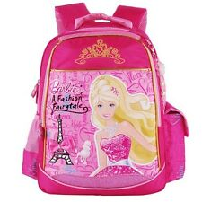 "Barbie 15"" cartoon school bag books backpack for girls grade/class 1-3"