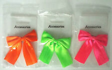 Neon Small clip-on Hair Bows - great fancy dress/dancewear *1st class delivery*