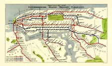 Old Travel Map - New York City IRT Routes - 1924 - 23 x 39.01