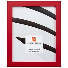 Craig Frames Confetti, Modern Red Solid Wood Picture Frame