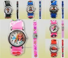 New 1pcs Pink/Barbie Minnie/Mouse  Children's Watches Xmas gift 28Style HL-UK