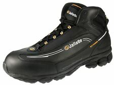 Black Mens Steel Toe and Midsole Lace Hiker Safety Leather Boots in UK 13