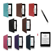 Slim PU Leather Cover Case For Amazon Kindle Paperwhite Free SP Stylus Gift