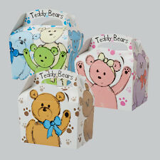 Childrens Kids Teddy Bears Picnic Birthday Meal Loot Party Bags Carry Boxes