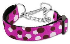 Martingale Dog Collar Hot Pink Large  Greyhound Whippet Training Choke Chain Pet