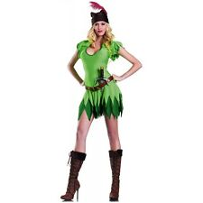 Peter Pan Costume for Women Adult Outfit Halloween Fancy Dress