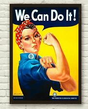 Vintage We Can Do It Wartime Rosie The Riveter Poster Print Picture A3 A4