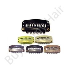20 x 2.8 cm Hair Extensions Snap Weave  Weft  Clips With Silicone Grip