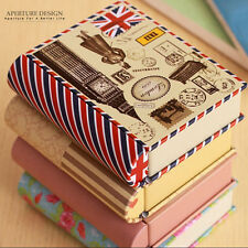 Book Shaped Tin Metal Decorative Jewelry Storage Box Coin Pill Box Container