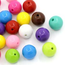 Wholesale Lots DIY Jewelry Spacer Beads Round Acrylic Mixed 16mm Dia.