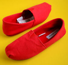Steve Madden Women's Canvas Soft Insole Slippers Red Size 6 7 8 9 10 Retail$30
