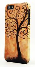 Brown Tree Of Life  Plastic Case Fits Apple iPhone 4s 5s 5c