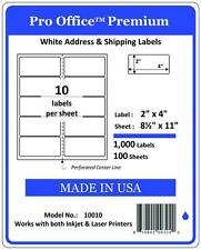 "PO10  2"" x 4"" Pro Office Self-Adhesive Address Label,4""X2"" Shipping Labels 5163"