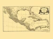 Old Caribbean Map - Americas, Caribbean and Gulf of Mexico 1760 - 23 x 30