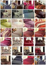 SuperKing Quilt/Duvet Cover + 2 Pillowcases Faux Silk (27 Designs)
