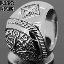 MEN`S STAINLESS STEEL SILVER RING/23g/WR7