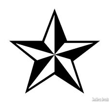 "Nautical Lone Barn Star - Decal Sticker - 24 Colors - 4"" x 3.75""  [ebn3135]"