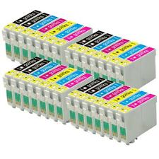 28 Ink Cartridges non-OEM to replace T0807 & T0801 Compatible (4x Set + Black)