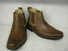 Anatomic & Co Natal Cognac Brown Leather Casual Chelsea Boots