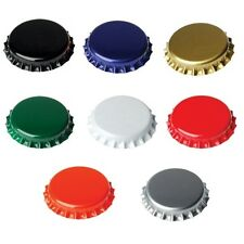 Crown Caps for Beer Bottles 26mm pack of 100 pcs, choice of colours