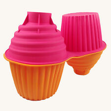 11 Inch Tall!! Giant Extra XXXXL JUMBO Cupcake Muffin Baking Mould Pan 4.5kg!