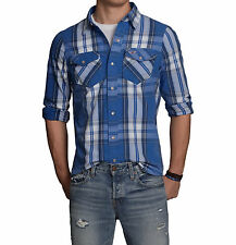Hollister by Abercrombie Men Bluffs Beach Plaid Button Down Shirt - Free $0 Ship