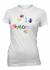 Junior's Number 1 Mom Funny T-Shirt #1 Mother's Day Birthday Gift Tee