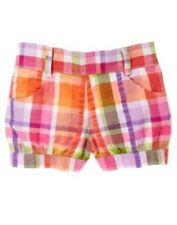 GYMBOREE SURF ADVENTURE PLAID CUFFED WOVEN SHORTS 6 12 18 24 2T 3T 4T NWT