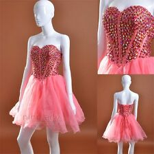 New Tulle Short/Mini Beaded Cocktail Party Prom Gown Homecoming Dress Size 6-16