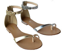 B-43 Womens Summer Gladiator Sandals Flats Zipper Strap Fashion Shoe Size 5.5~10