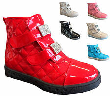 girls children kids ankle boots vaclo quitted  faux leather casual booty shoes