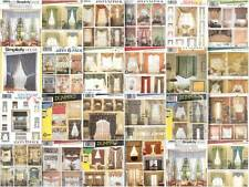 Simplicity Window Treatment Covering Curtains Drapes Home Decor Sewing Pattern